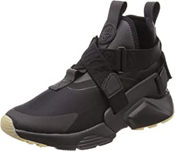 Nike Women's Air Huarache City Low-Top Sneakers Black Dark Grey-Gum Light Brown 003, 5.5 UK 39 EU