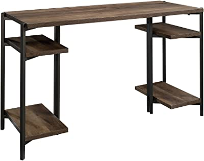 "Sauder North Avenue Desk, L: 49.69"" x W: 18.98"" x H: 28.5"", Smoked Oak Finish"