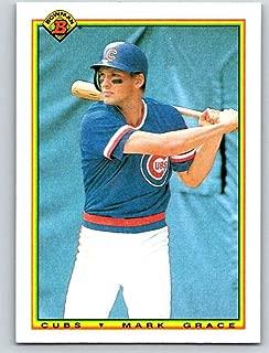 1990 Bowman #29 Mark Grace Chicago Cubs MLB Baseball Card NM-MT