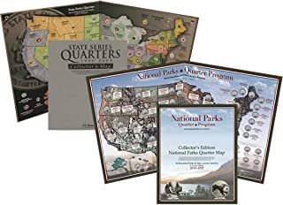 Quarter Map Combo Pack: State and National Parks