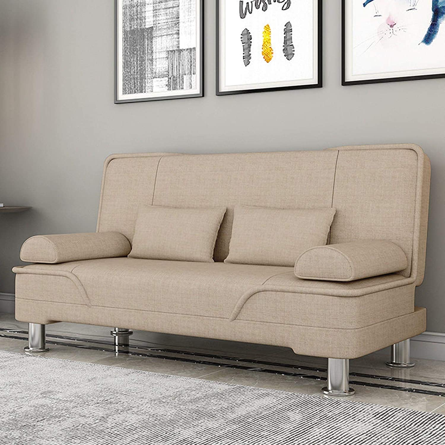 SND-A Memphis Mall Modern Futon Sofa Bed Sleeper with Detroit Mall 3 Adjustable Angl