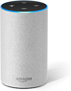 Certified Refurbished Echo (2nd Generation) - Smart speaker with Alexa – Sandstone Fabric