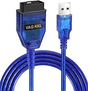 VIMVIP VAG-COM KKL 409.1 OBD2 USB Cable Auto Scanner Scan Tool Compatible with Audi VW SEAT Volkswagen