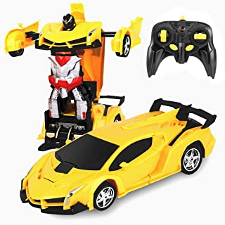 Desuccus Remote Control Car, Transform Robot RC Car for Kids, 2.4Ghz 1:18 Scale Model Racing Car...