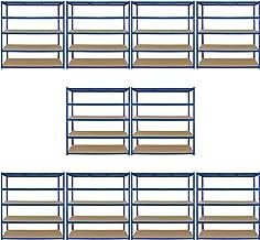 10 x T-Rax Stellingkasten- 160cm x 60cm x 180cm per rek (extra breed) - 100% boutloos - Draagkracht: 265 kg per plank - Op...