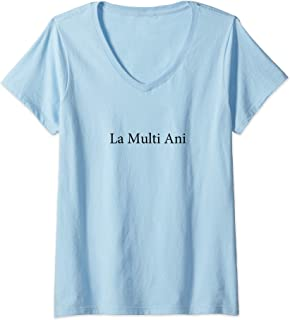 Womens Happy Birthday Romanian Language Funny Travel Photo Prop V-Neck T-Shirt