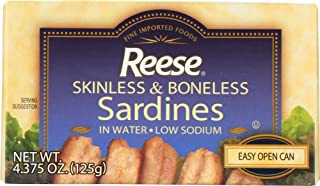 Reese Skinless and Boneless Sardines in Water,  4.38-Ounces (Pack of 10)