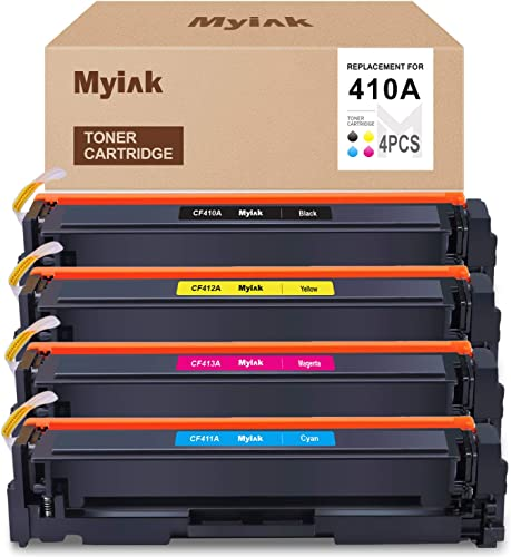 lowest MYIK Compatible Toner online Cartridge Replacement for HP 410A CF410A Use with HP Color Laserjet Pro MFP M477fnw M477fdn M477fdw M377dw M452nw lowest M452dw M452dn 4 Pack (Black, Cyan, Yellow, Magenta) online sale