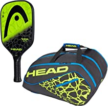 HEAD Radical Pickleball Paddle Starter Kit or Set Bundled with a Black/Neon Yellow/Blue Tour Team Supercombi Pickleball Bag(Best for Beginner and Intermediate Players)