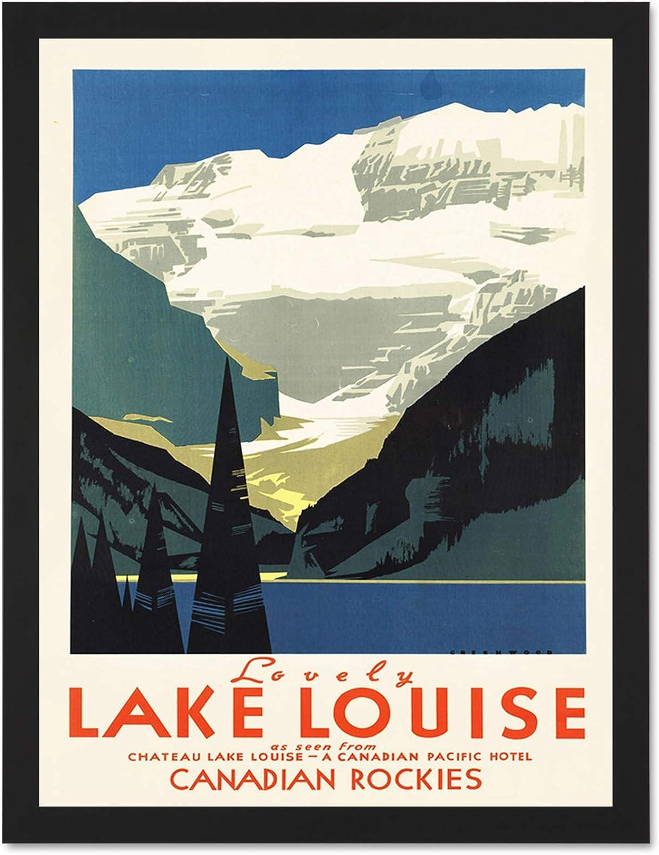 Wee Blue Coo Travel Tourism Lovely Lake Art 予約販売品 Louise Large Canada 価格 交渉 送料無料