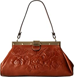 Tooled Rose Ferrra Satchel