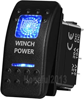 Blue Led Winch Power 5 Pin ON/Off SPST Rocker Switch NARVA Style Replacement