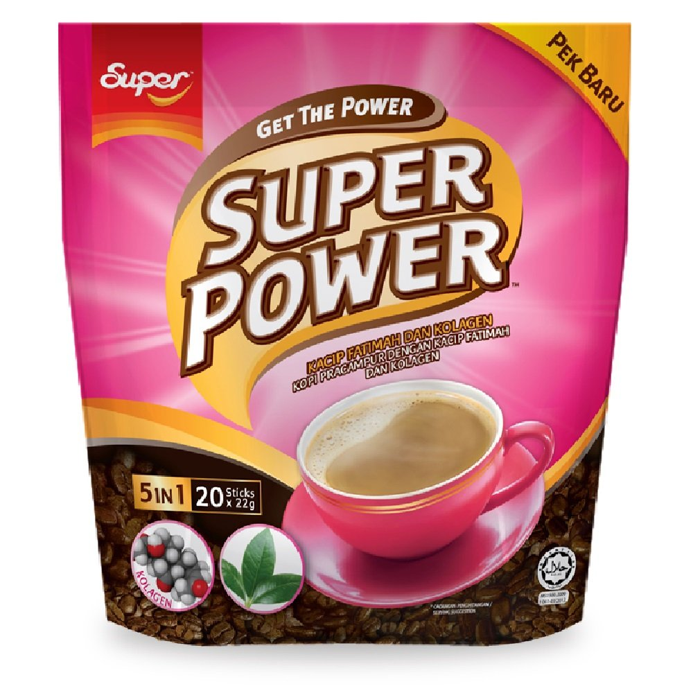 Super Power Instant Coffee 628MART Easy-to-use free shipping Fatimah Kacip 5in1 Colla