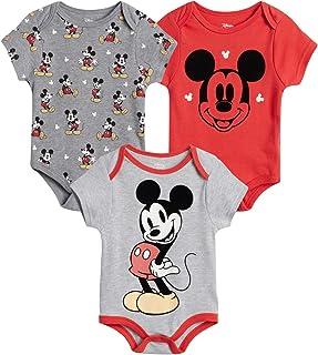 Disney Baby Boys 3 Pack Bodysuits - Mickey Mouse & Friends (Newborn)