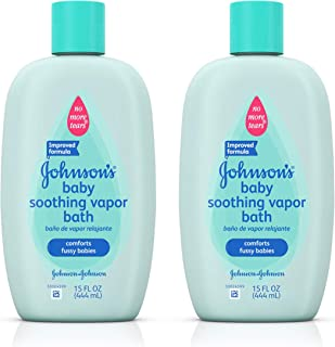 Johnson's Baby Soothing Vapor Bath For Colds, 15 Oz. (Pack of 2)