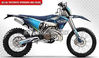 Kungfu Graphics Custom Decal Kit for Husqvarna TC FC 125 250 350 450 2016 2017 2018, Blue
