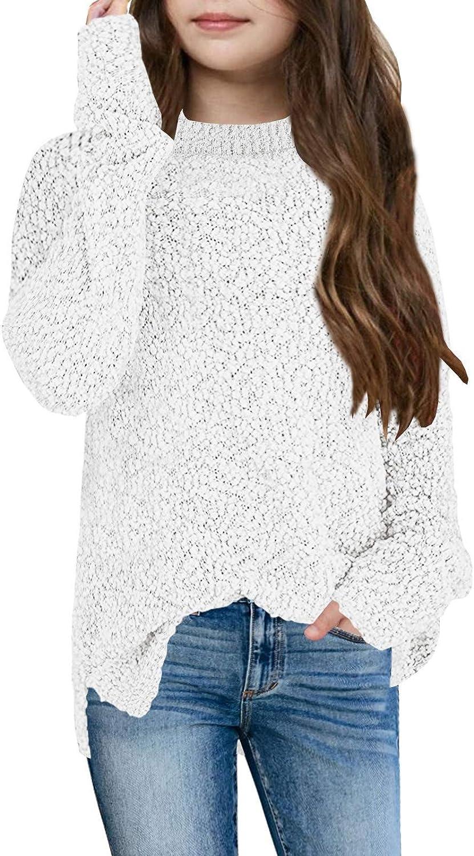 Ranking TOP13 Girls Sweaters Fuzzy Knit Kids Cozy Long Sleeve Cute Popcorn store Pul