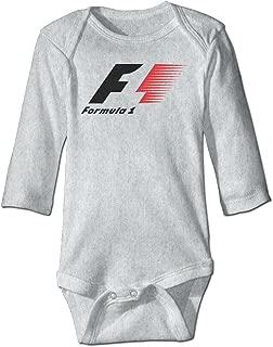 Fengziya Baby's F1 Racing Formula 1 Logo Hanging Bodysuit Long Sleeve