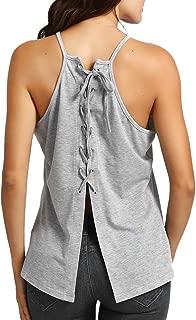 Farjiang Hot Sale Women Blouse Summer Casual Back Bandage O Neck Shirt Sleeveless Vest