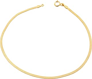 10k Yellow Gold 1.8 mm Herringbone Bracelet (7.5 inch)