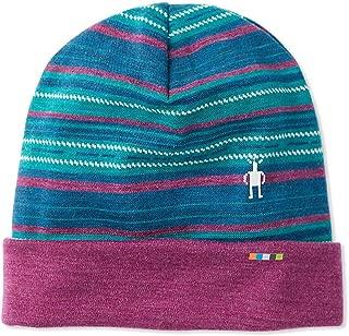 Unisex Pattern Cuffed Beanie - Merino Wool 250 Reversible Hat for Men and Women