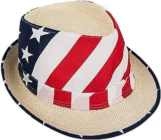Mozlly Patriotic American USA Flag Hat, Men Women Child, July Fourth Photo Props