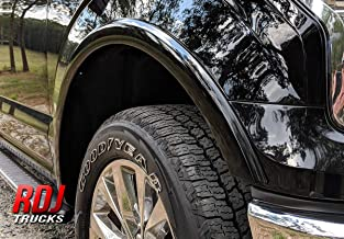 RDJ Trucks HWY-PRO OE Style Fender Flares - Fits Ford F150 2018-2020 - Set of 4 (Smooth Paintable Black)