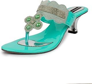 ABJ Fashion Women's Green Fashion Sandal