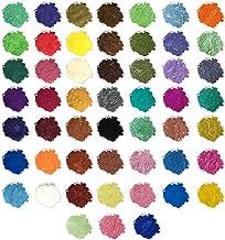 Walmeck- Pigmento en Polvo de Mica de Grado cosmético para Bombas de baño de jabón Mineral Make Up Nail Art
