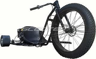 Motorized Drift Trike 6.5 HP 40 MPH - BLACK Wheel [534]