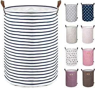 DOKEHOM 17.7-Inches Freestanding Laundry Basket with Lid, Collapsible Large Drawstring..