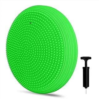 バランスディスク バランスクッション 厚手 ポンプ付き EVERYMILE 直径32cm 自宅 オフィス エクササイズ 姿勢矯正 体幹トレーニング 健康クッション