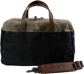 Muchuan 6117 Reisetasche mit großem Fassungsvermögen, Segeltuch Schwarz Schwarz L