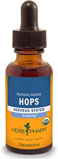 Herb Pharm Certified Organic Hops Liquid Extract for Calming Nervous System Support - 1 Ounce