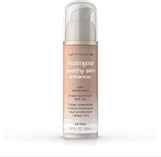 Neutrogena Healthy Skin Enhancer Sheer Face Tint with Retinol & Broad Spectrum SPF 20 Sunscreen for Younger Looking Skin, ...