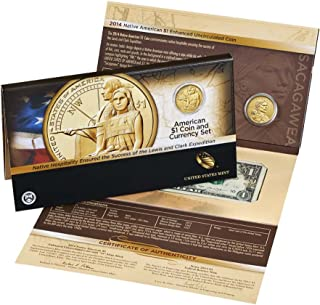 2014 D Sacagawea Coin And Currency Set Enhanced Uncirculated (TA9) $1 Uncirculated US Mint