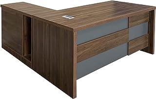 Mahmayi Noce S608 Modern Executive Desk Dark Walnut (Dark Walnut) (180cm)