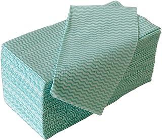 ストリックスデザイン カウンタークロス 100枚 グリーン 約30×61cm 使い捨て 不織布 ふきん テーブルダスター J-118