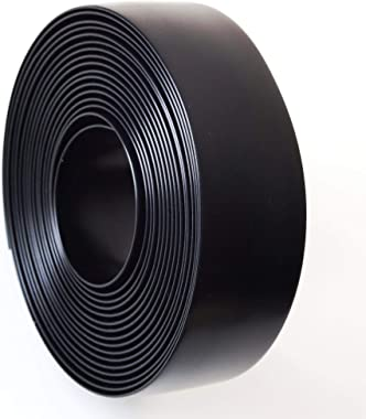 """Black 1.5"""" Wide 20' Length Chair Vinyl Strap Strapping for Patio Lawn Garden Outdoor Furniture Matte Finish Color"""