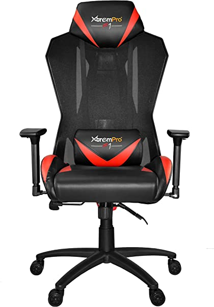 XTREMPRO 22045 MESH Swivel Gaming Chair Black RED