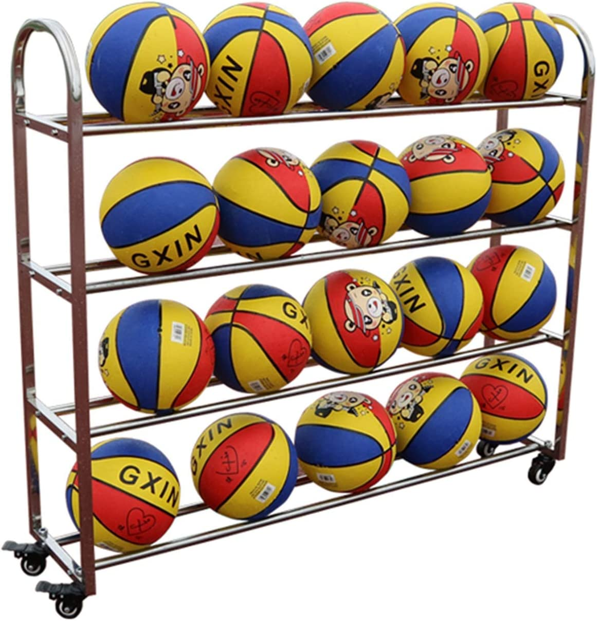 LLFF 20balls OFFicial site Super beauty product restock quality top! Basketball Rack Rolling Storage Sports Equipment C