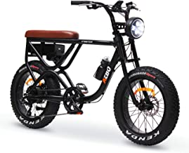 AZBO Electric Bike for Adults 48V 500W Brushless Rear Hub Motor Fat Tire Vintage E-Bike, 20 inch Tire 20 MPH Motorized Bicycle with Shimano Gear