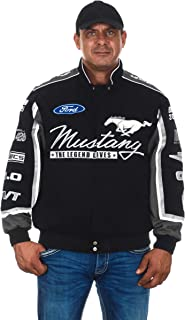 JH DESIGN GROUP Men's Ford Mustang Jacket an Embroidered Cotton Twill Coat