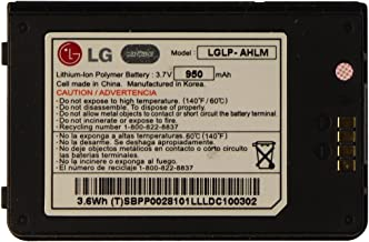 LG Lithium Ion 950mAh Replacement Battery for LG ENV Touch - Black LGLP-AHLM (Renewed)