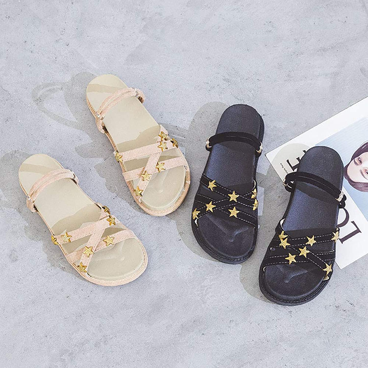 Sandals for Women, Gladiator Sandals for Women Platform Sandals Star Roman Sandals Slippers and Sandals in Two Ways to wear