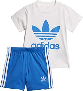 f5a050654966 Adidas Short Tee Set Completo T-shirt Pantaloncino Bambini  D96055-WHITE/BLUBIR
