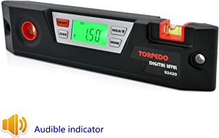GemRed Digital Level Angle Slope Measure(NO.420 Digital Torpedo Level with Magnets and Audible Indicator)