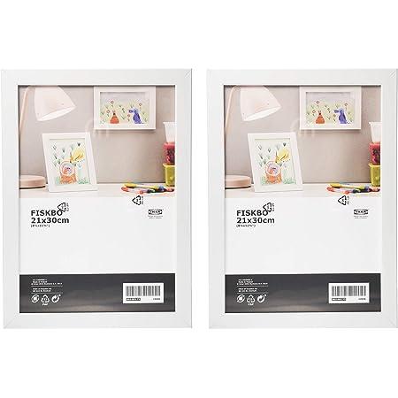 IKEA Fiskbo A4 White Photo Frame Picture Frame 21x30 Fibreboard Plastic Front