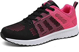 WONZOM Women's Girl's Lightweight Fashion Sneakers Casual Breathable Walking Shoes