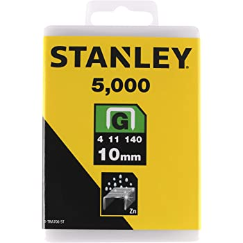 5x Stanley Agrafes Type G 1-tra705-5t 8 mm plat fil 5000 pièce neuf facture